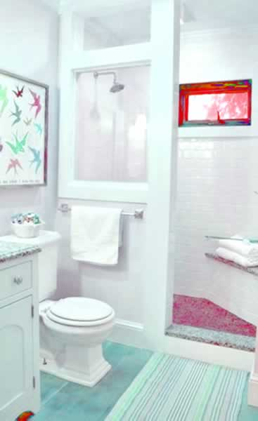 best unique shower for very small bathroom