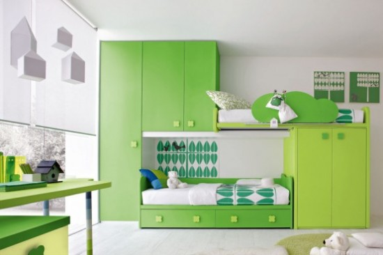 Green kids furniture ideas