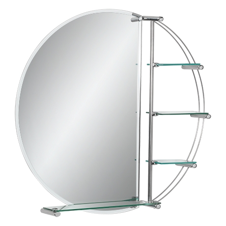 contemporary rounded bathroom mirror