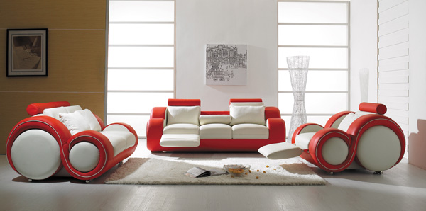 contemporary style - modern leather sofa