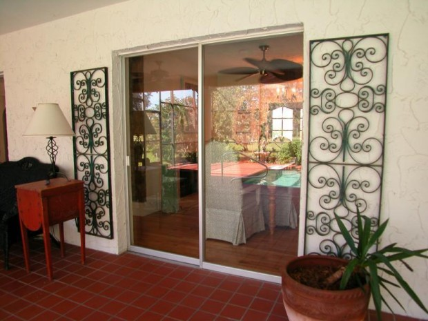 glass modern sliding door