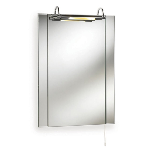 illuminated rectangular modern bathroom mirror