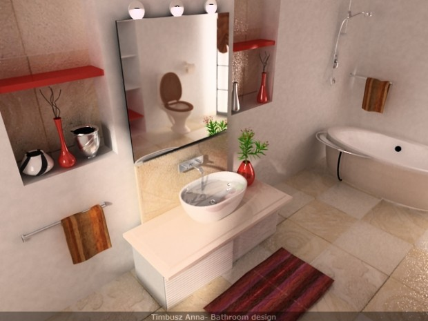 modern bathroom mirror with light in modern bathroom design