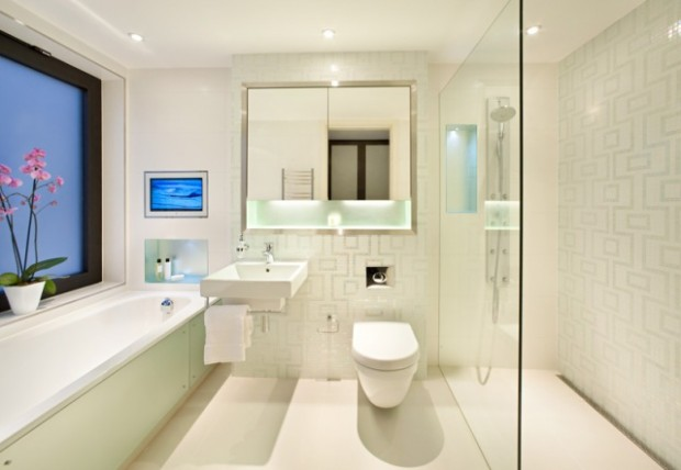 Modern Bathroom mirror with lighting I
