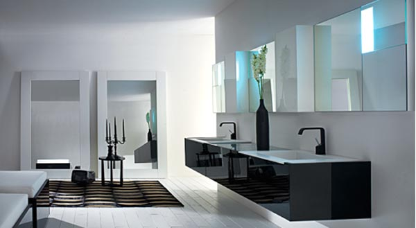 modern bathroom vanity and mirror design