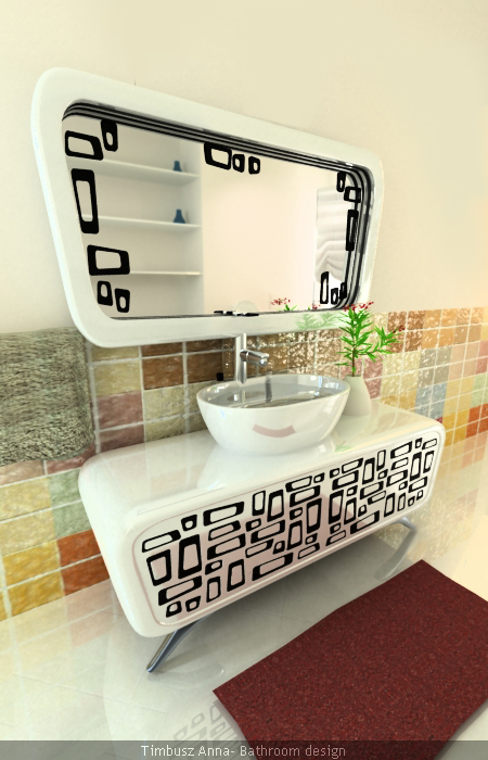 retro mirror bathroom design