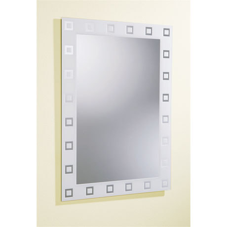 square rectangular contemporary bathroom mirror