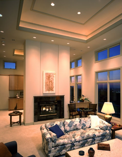 High Ceiling Living Rooms