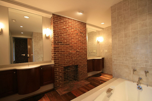 Master Bathroom with wooden interior