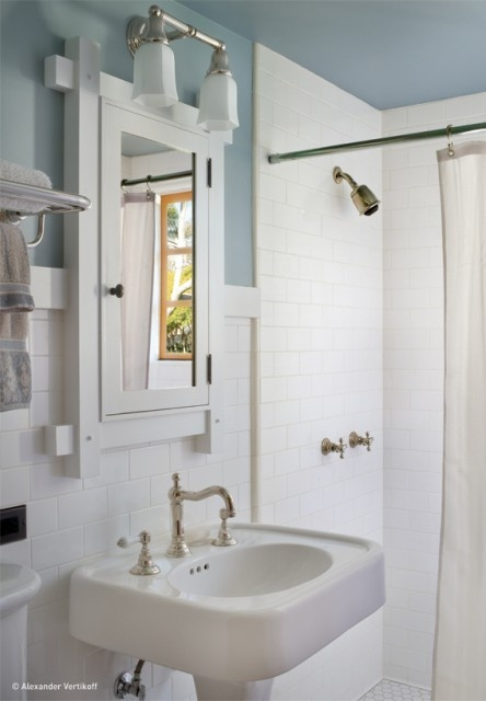 traditional white sink