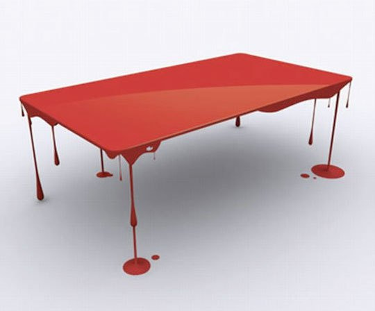 Paint Drip Table