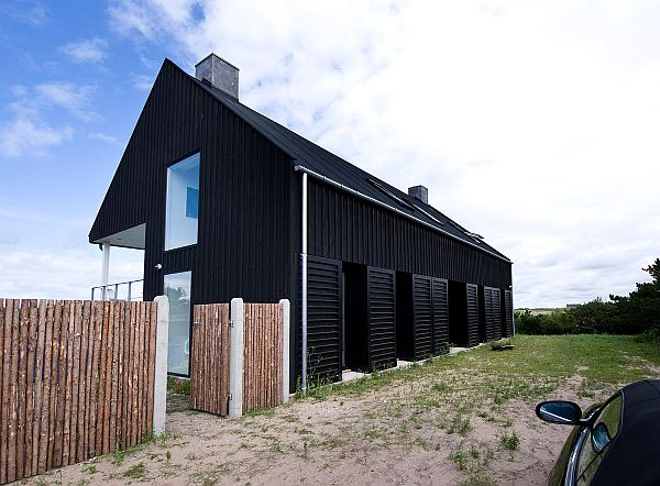 summer house with black exterior