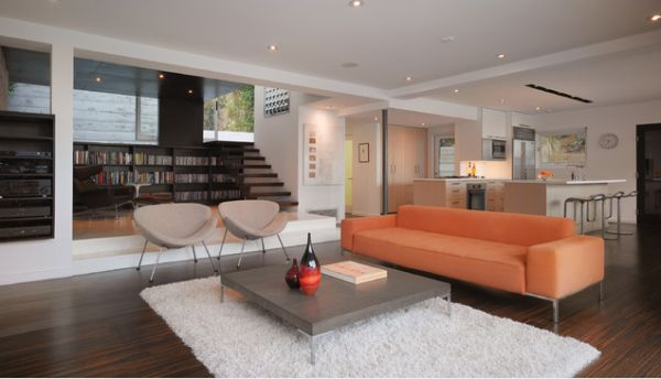 open space living room design