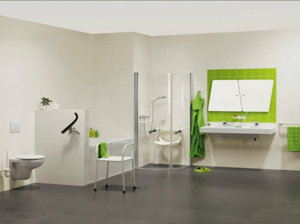white green bathroom minimalist interior design