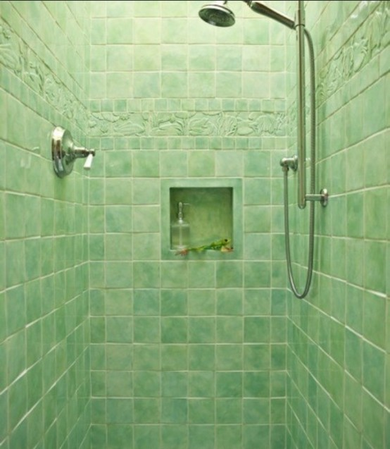 green bathroom tiles small sizes