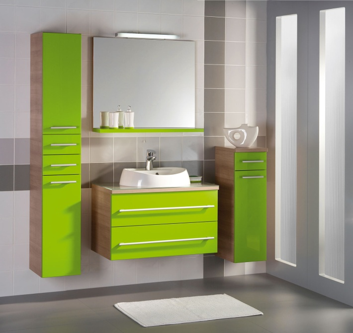 green bathroom furniture cabinet