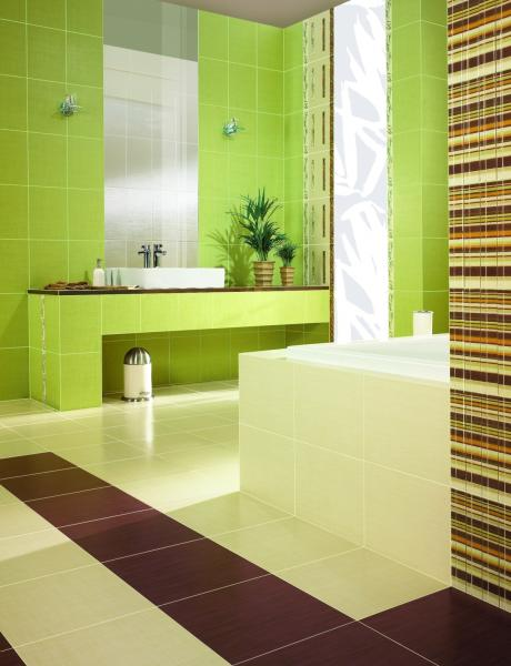 lovely green bathroom