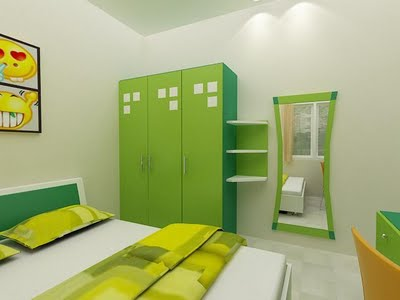 green bedroom interior decor ideas
