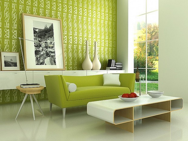 green interior decor ideas for living room
