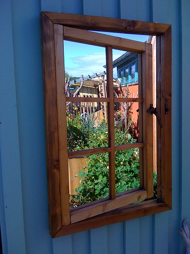 simple window decorative mirror