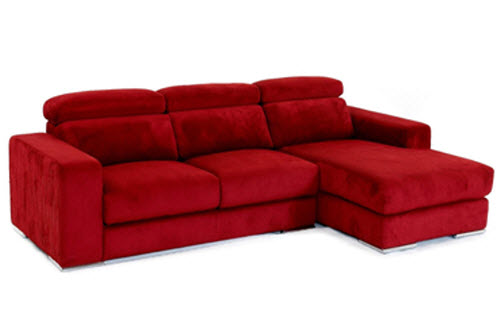 red fabric lounge by King Sofa
