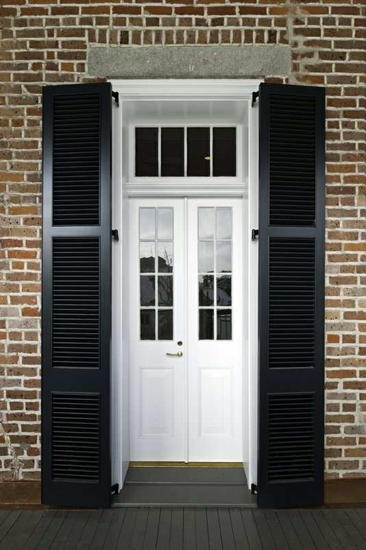 black and white classic front door
