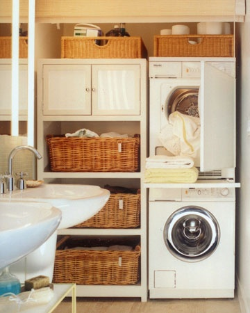 laundry storage for small space