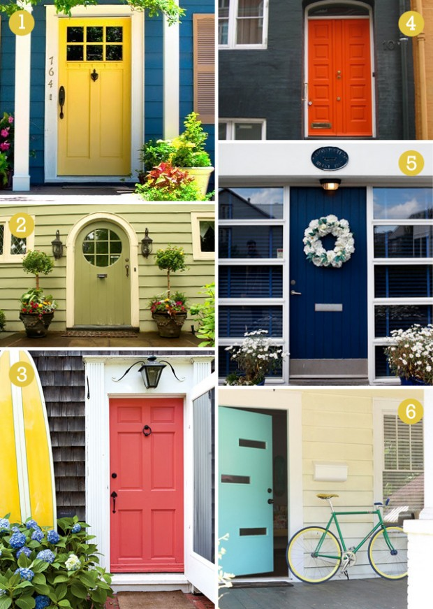 various colorfol front doors